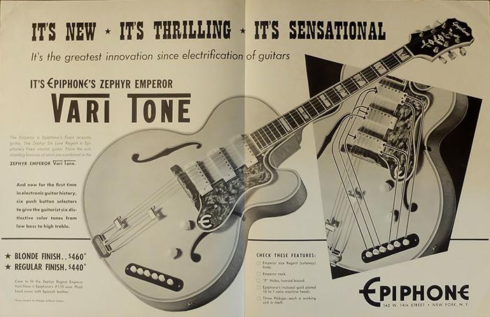 1950 advert Zephyr Emperor Vari-Tone